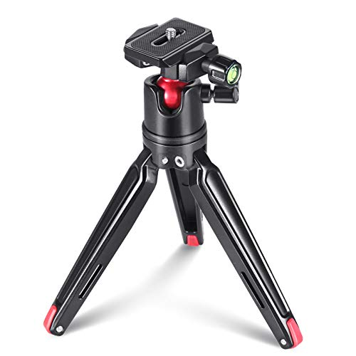 SMALLRIG Kamerastativ Mini Stativ Flexible 360° Kugelkopf mit 1/4 Schraubbefestigung für Canon/Sony/Nikon/Panasonic DSLR,GoPro, Smartphone, CNC Aluminium