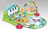 Musik Erlebnisdecke mit Spielbogen und Piano, Spieldecke, Krabbeldecke, Spielmatte, Baby Decke (grün)