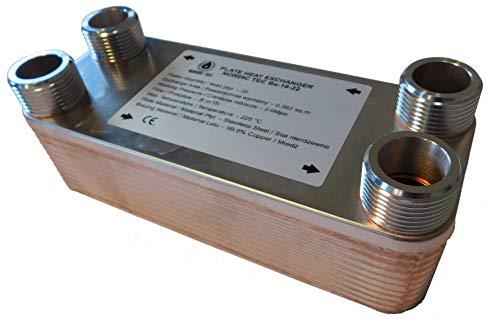 Edelstahl Wärmetauscher Plattenwärmetauscher NORDIC TEC Ba-16-22, 100kW, 22 platten, 1'