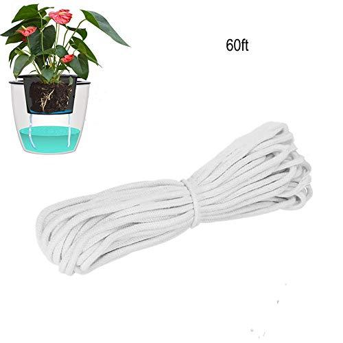 SUNANFBEST 60FT/18M Selbstbewässerung Docht, Bewässerungsseil Tropfbewässerung Seil für selbst bewässern Pflanzer Topf Automatische Bewässerung Indoor Topfpflanze