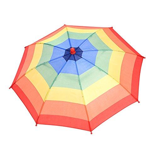 Scherzhut Regenschirm Hut Faltbarer Sonnenschirm Regenschirm Hut in zufälliger Farbe für Outdoor-Aktivitäten wie Angeln Party