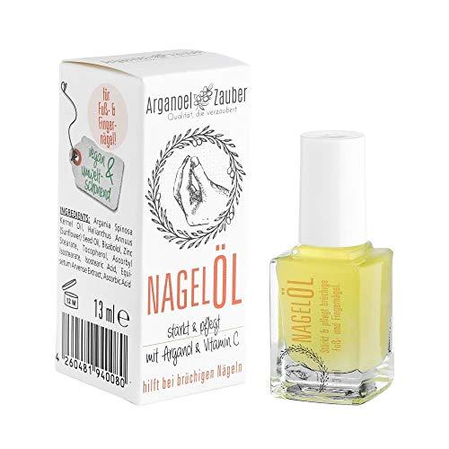 Arganoel-Zauber Nagelöl/Nagelhärter inkl. Pinsel | stärkt & pflegt rissige, brüchige Fuß- und Finger-Nägel | besonders im Winter | mit Arganöl, Vitamin C & Bisabolol (1 x 13 ml)