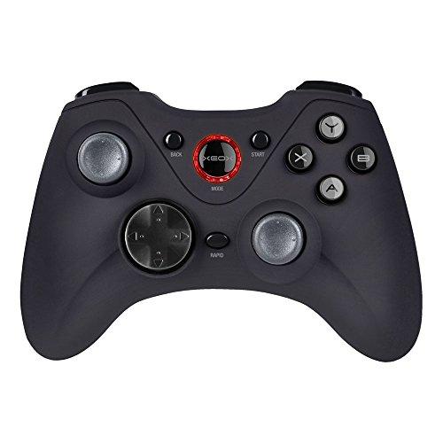 Speedlink Gamepad PC / Computer - XEOX Pro Analog Gaming Controller kabellos / wireless / Funk (10m Reichweite - 2,4GHz - Schnellfeuermodus - X-Input und Direct-Input - Vibrationsfunktion) LED-Anzeige