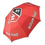 Wilson Staff Schirm, Sturmsicherer Anti-Windverdeck Doppel-Canopy, Schirmdurchmesser: 173 cm, Kunststoff, Tour, Rot, WGA092500