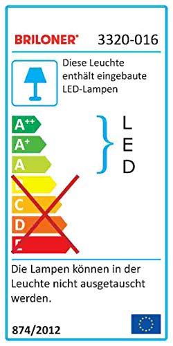 Briloner Leuchten LED Deckenleuchte mit Sternenfunkel Dekor, Lichtfarbe Deckenlampe: neutralweiß, D: 28 cm, 15W, 1200 Lumen, weiß, Metall, Integriert, 12 W, 28 x 28 x 9.5 cm