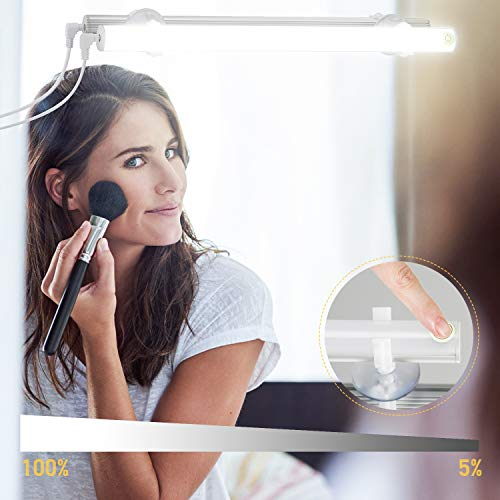 Kohree LED Spiegelleuchte USB Dimmbar Schminklict Make-up Licht Spiegellampe Kosmetiklampe Tageslichtlampe LED Leiste Tageslichtweiß 6500k 6W für Badezimmer Schrank Küche Unterwegs,Energieklasse A+