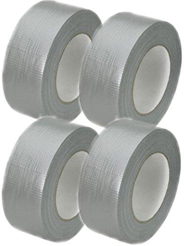 Profi Gewebeband 50 m x 48 mm 'Ultra Strong' Silber 4 Rollen