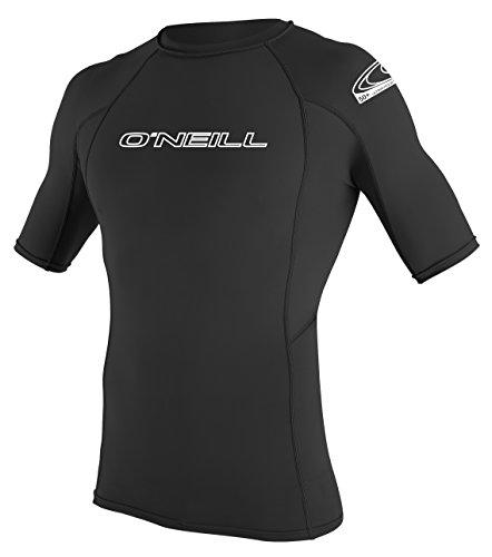 O'Neill Wetsuits Herren Basic Skins S/S Crew Rash Vest, Black, L