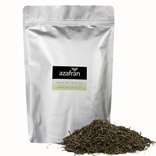 Grüner Tee - Japanischer BIO Sencha Uchiyama Grüntee - Original aus Japan (500g) von Azafran - ca. 200 Tassen
