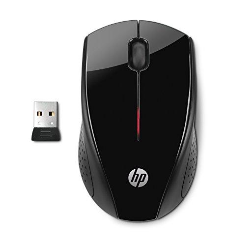 HP X3000 (H2C22AA) kabellose Maus (Nano Receiver, USB-Anschluss, Optischer Sensor 1200 CPI, 3 Tasten) schwarz