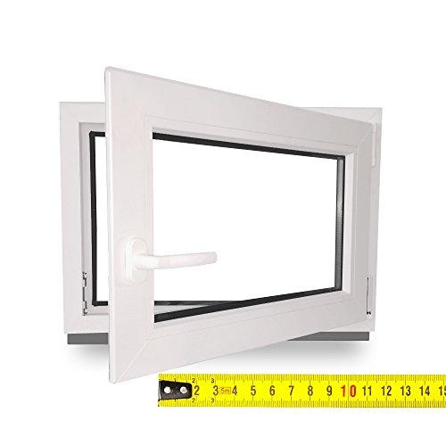 Kellerfenster - Kunststoff - Fenster - weiß - BxH: 70X45 cm - DIN Rechts - 2-Fach Verglasung - Wunschmaße ohne Aufpreis - Lagerware