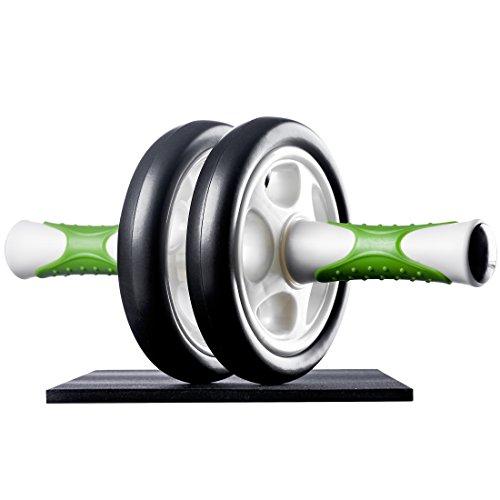 Ultrasport Bauchtrainer AB Roller, handliches Fitnessgerät und Bauchmuskeltrainer – trainiert Bauch, Muskulatur und Rücken, inklusive Knieauflage