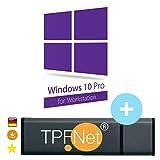 MS Windows 10 Pro Workstation 32 bit & 64 bit - Original Lizenzschlüssel mit bootfähigen USB Stick von - TPFNet