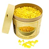 100% Premium BIENENWACHS Bio für Kosmetik | Europharm Norm (Ph. Eur.) | 500 g Reine Bienenwachs – Pastillen | Pellets für Salben, Lippenbalsam, Seifen, Cremes, Lotionen und Kerzen | Granulat gelb