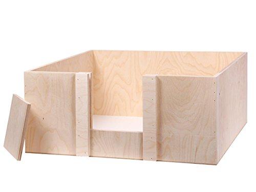 Alsino Wurfbox Katze Welpenbox Wurfkiste Schlafplatz Welpe Welpenkiste verschiedene Größen, wählen:Wurfkiste 60 x 60 x 25 cm
