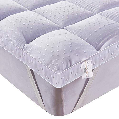 Bedecor Ultra Soft Matratzenauflage, Anti-Slip Down Alternative Matratze Pad, Luxus-3D-Massage Bubbbles Abdeckung, 90 x 200 cm