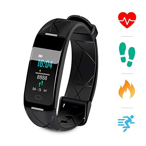 Sonkir Fitness Tracker HR, Aktivitäts-Tracker-Uhr mit Pulsmesser, Schrittzähler, 8 Sportmodi, Kalorienzähler, Schlafmonitor, wasserdichtes IP68-Armband für Android und iPhone