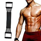 Winline Verstellbarer Chest Expander -Brust Expander - Trainingsgerät für Muskeln - 5 Strings mit Sicherheits-Ummantelung (Black)