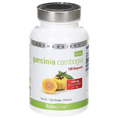 Garcinia Cambogia DAILY 1.800 mg pro Tag 120 vegane Kapseln - Premiumqualität deutscher Herstellung