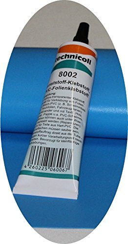 Pool Reparaturset mit Kleber 38 gr. technicoll Folien Reparaturset Poolflicken + Kleber Schwimmbad verschiedene Größen (35 x 35 cm)