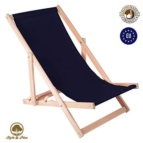 Amazinggirl Liegestuhl klappbaraus Holz Liege - Relaxliege für Garten Balkon Gartenliege Strandstuhl Liegen Gartenmöbel