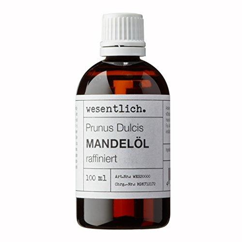 Mandelöl 100ml - 100% reines Basisöl von wesentlich. - natürliche Pflege für Haut und Haar