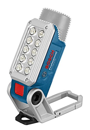 Bosch Professional LED Akku-Lampe GLI 12V-330 (ohne Akku, ohne Ladegerät, Arbeitslicht, mit Magnet, Karabiner, click&go, Leuchtdauer: 180 Min per Ah, kompatibel mit 10, 8V) 06014A0000