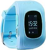 TrackerID GPS Uhr: Kinder-Smartwatch mit Telefon- & SOS-Funktion, GPS-/LBS-Tracking, blau (GPS Uhr Kinder)