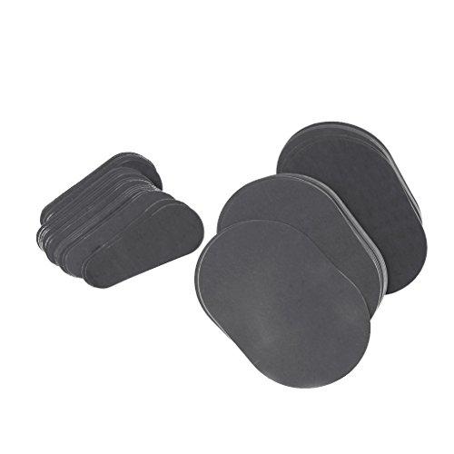 Gazechimp Ersatzscheiben für Haarentfernung Pad (40 x große pads + 40 x kleine pads) Enthaarungspads