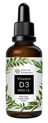 Vitamin D3 - Laborgeprüft - Zertifiziert - 1000 I.E. pro Tropfen - 50ml (1750 Tropfen) - In MCT-Öl aus Kokos - Hochdosiert und hergestellt in Deutschland