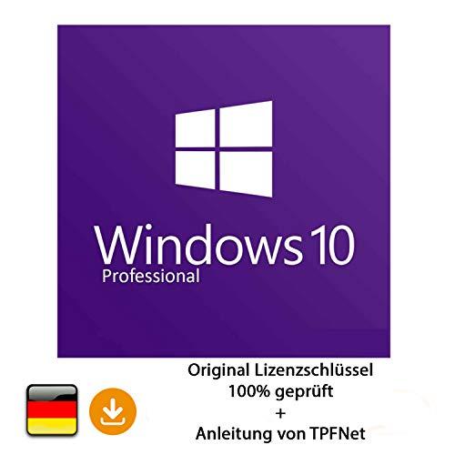 MS Windows 10 Pro 32 bit & 64 bit Vollversion Original Lizenzschlüssel per Post und E-Mail + Anleitung von TPFNet | Versand maximal 60Min