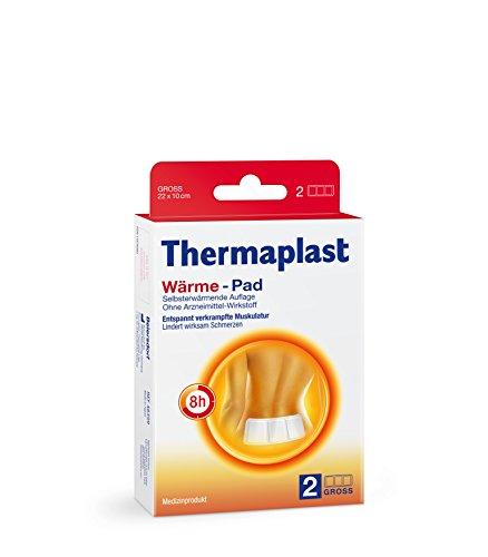 Thermaplast Wärme-Pad, 22 x 10 cm, Wärmeplaster im 1 Pack (2 Stück)