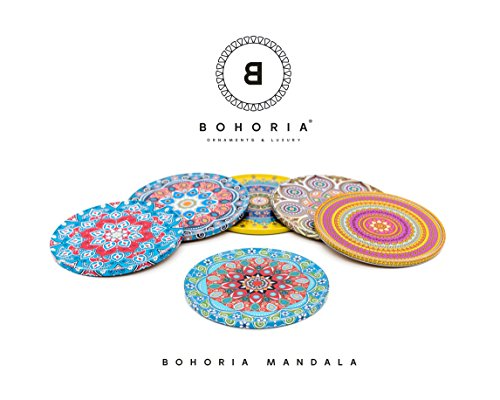 Bohoria Untersetzer 6er Set Kaffee Tee Boho Orient Soho Mandala (Mandala)