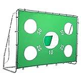 Pinty Fußballtor Fußball Tor Trainer mit Torwand Soccer Goal Garten Groß HxBxT: 171cm x 244cm x 85cm mit Nylon-Netz