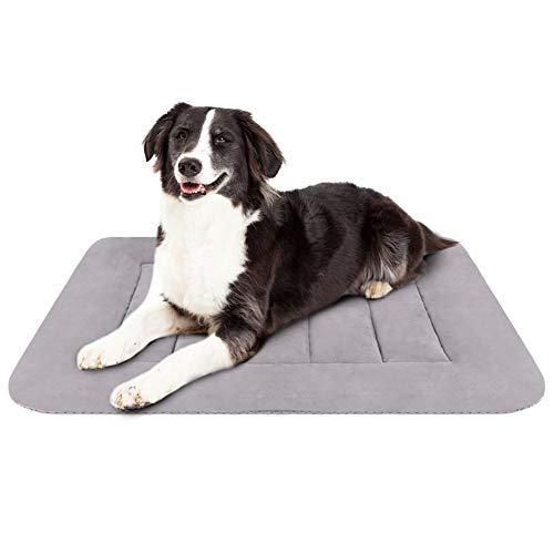 Hero Dog Hundebett Mittelgrosse Hunde 90 x 60 Weiche Hundedecken Waschbar Hundematte Kissen rutschfest Grau M