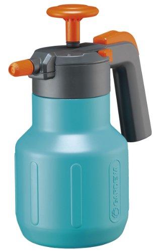 GARDENA Comfort Drucksprüher 1,25 l: Drucksprühgerät mit Füllstandsanzeige, große Einfüllöffnung, Anschlagsdämpfung und Überdruckventil (814-20)