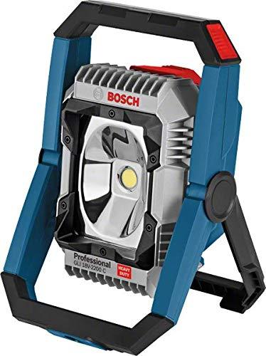 Bosch Professional Akku Lampe GLI 18V-2200 C (ohne Akku, 18 volt, max. Helligkeit: 2200 Lumen, im Karton)