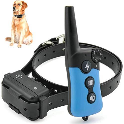 WAFOR 330 Yd Fernbedienung Ferngesteuertes Hunde Trainer Wasserdicht, Wiederaufladbar,Mit Vibration, Licht, Anti Bell Und Ton Trainingshalsband