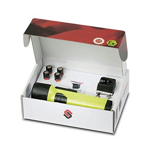 Parat 6911220158 Limited Fire-Edition Sicherheitslampe inkl. PARASNAP Helmhalter Rechts, 1 Stück, gelb, 6.911.220.158