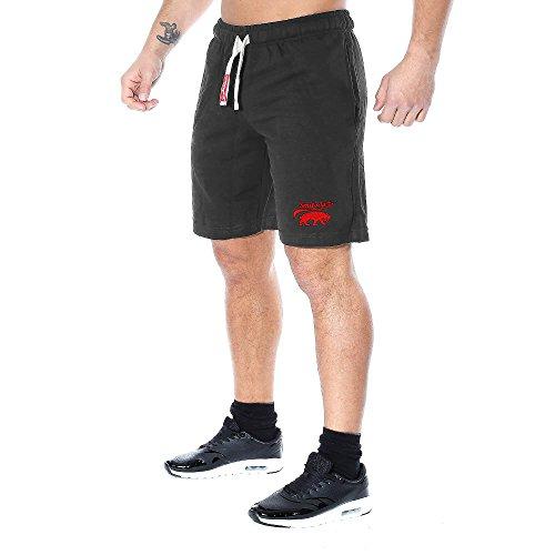 SMILODOX Herren Shorts 'Basic' | Kurze Hosen für Sport Fitness Gym Training & Freizeit | Jogginghose - Freizeithose - Trainingshose - Sweatpants Jogger - Sporthose Kurz, Farbe:Anthrazit, Größe:S