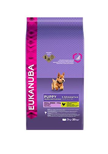 Eukanuba Premium Hundefutter für Welpen kleiner Rassen, Trockenfutter mit Huhn (1x3 kg)
