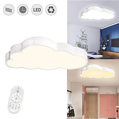 Froadp 48W Wolken Deckenleuchte LED Ultradünne Dimmbar mit Fernbedienung - Jungen Und Mädchen Cartoon Lampe - 500×280×53mm Deckenlampe für Kindergarten Küche Schlafzimmer(Dimmbar)