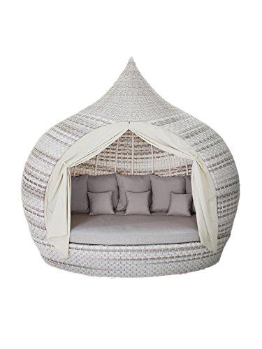 Liegeinsel Eye Catcher Lounge Harkers Island Wash Duo Weaving grau-weiß einseitig offen Liege Insel Lounge
