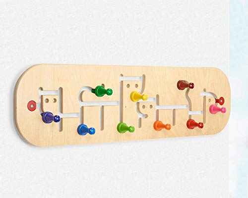 Selecta 60007 Garderobe Movella, Holzgardrobe Kinder,  74 x 20,5 cm