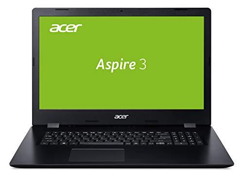 Acer Aspire 3 (A317-51K-35TP) 43,9 cm (17,3 Zoll Full-HD IPS matt) Multimedia Laptop (Intel Core i3-7020U, 8 GB RAM, 256 GB PCIe SSD, Intel HD, Win 10 Home) schwarz