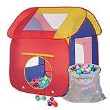 Schramm Kinderspielzelt Bällebad Pop up Kinderzelt mit 200 Stück Bällen Bällebad Spielzelt Bällezelt für Drinnen und draußen
