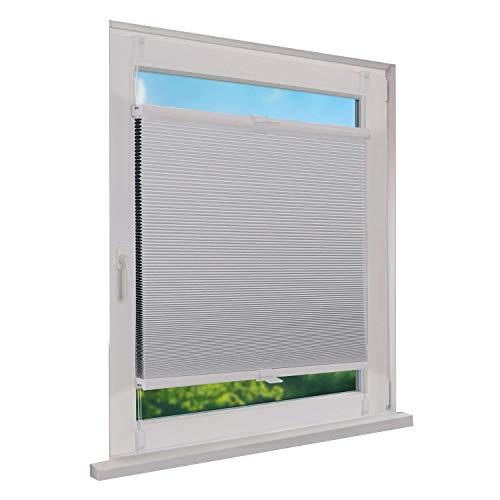 Fensterdecor Klemmfix Thermo Wabenplissee Verdunkelung mit Spannfeder/Weiß 65 x 130 cm (BxH)