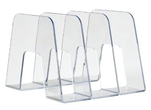 HAN Sorter Katalogsammler (Prospekthalter zum Austellen mit 3 Fächern, für DIN A4/C4, 209 x 224 x 163 mm (B x T x H)) transparent-klar