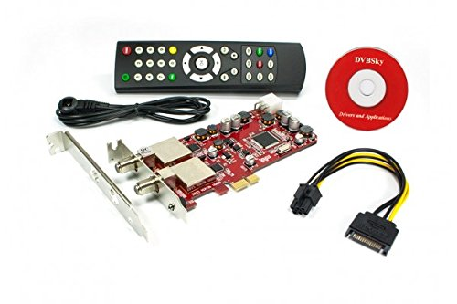 DVBSky S952 V3 mit 2x DVB-S2 Tuner (Dual Twin Tuner), low profile PCIe Karte