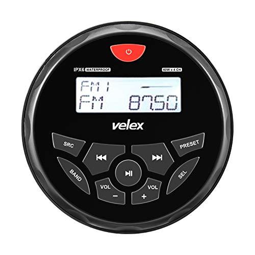Wasserdicht Bluetooth Marine Stereo-Empfänger mit MP3 Player am DAB+/AM/FM Radio und USB für Streaming Musik auf Booten Golf Carts ATV UTV und Spa Hot Tubs (w/o DAB+)